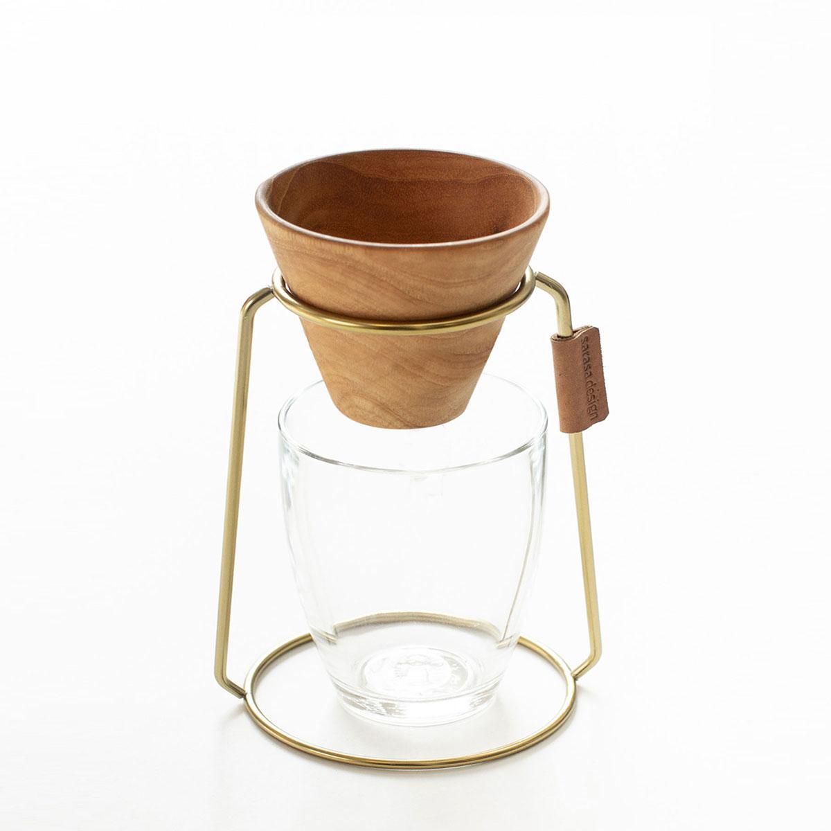コーヒー ドリッパー 珈琲[セット販売●b2c コーヒードリッパースタンド&ドリッパーセット(チーク)]ギフト サラサデザインストア sarasa design store