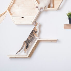 my zoo 猫 キャットタワー 木製 壁 猫家具 キャットウォーク キャット ステップ ねこ ネコ かわいい おしゃれ [〈MYZOO マイズー〉ZONE(ゾーン)キャットステップ]#SL_PT