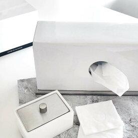 ティッシュケース ティッシュカバー [b2c セラミック ティッシュスタンド(ホワイト)] ポケットティッシュ ボックス#SL_BT