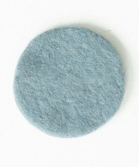 [《メール便可》セット販売●b2cウールフェルトコースターラウンド4枚入り]布おしゃれかわいいシンプル円型丸