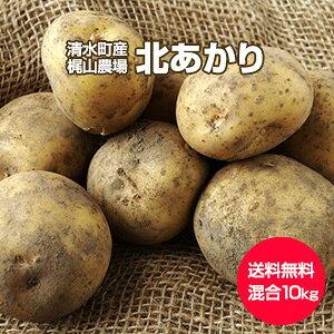 【予約】【送料無料】【北海道 十勝清水産・梶山農場】[北あかり 10kg](2L〜S混合)