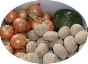 【予約】【送料無料】【北海道 十勝産】[とれたて農産物セット](北あかりLサイズ5kg・玉ねぎLサイズ4kg・栗カボチャ1個約1.5kg