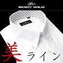 ★スッキリシルエットの新感覚ワイシャツ★[GUNZE おしゃれ スリム 美ライン カッターシャツ BODYWILD 白Yシャツ クー…
