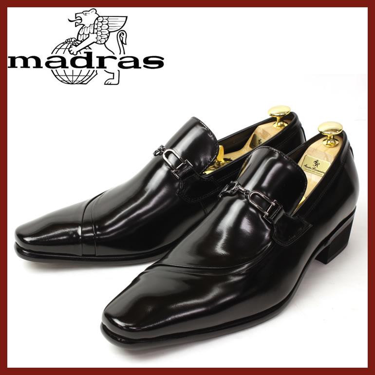 マドラスビジネスシューズ madras靴 madras ビジネスシューズ マドラス 靴 メンズ 男性 紳士靴/TR10275-BLA [レザー 本革 ブランド 天然革 メンズ ビジネスシューズ 通勤 革靴 マドラス 牛革 トラサルディ 3E フォーマル 紳士靴 ドレスシューズ 結婚式]