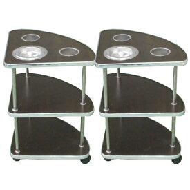 家庭用3段式(小型)サイドテーブル2本セット