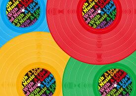 ペーパー・ランチョンマット 『A Life With Good Musicシリーズ 〜Colorful Vinyl〜』 10枚入 (B4版) 〜敷くだけで食卓がワンランクUP!使い捨てなので汚れても安心〜 普段使い・パーティ・お食事会に! 家飲み・お家ごはん・オンライン飲み会でも大活躍!