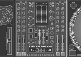 ペーパー・ランチョンマット 『A Life With Good Musicシリーズ 〜DJ MIXER〜』 10枚入 (B4版) 〜敷くだけで食卓がワンランクUP!使い捨てなので汚れても安心〜 普段使い・パーティ・お食事会に! お家ごはん・オンライン飲み会などでも大活躍!