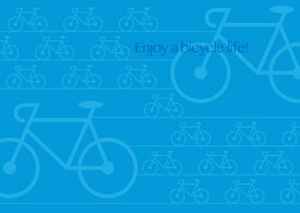 ペーパー・ランチョンマット 『Enjoy bicycle life!』 10枚入 (B4版) 〜敷くだけで食卓がワンランクUP!使い捨てなので汚れても安心〜 普段使い・パーティ・お食事会に! 家飲み・お家ごはん・オンライン飲み会・リモート飲みなど、ステイホームでも大活躍!