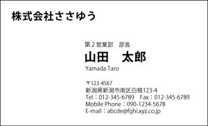 【オリジナル名刺印刷】モノクロ名刺[M_013_a]《名刺片面100枚入ケース付》テンプレートを選んで簡単名刺作成シンプルな単色名刺がお好みの方に!ビジネス用にもプライベート用にもおす