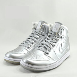 訳あり!ナイキ NikeAIR JORDAN AJ 1 ANODIZED エアジョーダン AJ 1 アナダイズド ハイカット バッシュ バスケットボール メタリックシルバー(METALLIC SILVER(訳あり)) 414823 スニーカー メンズ シューズ 靴