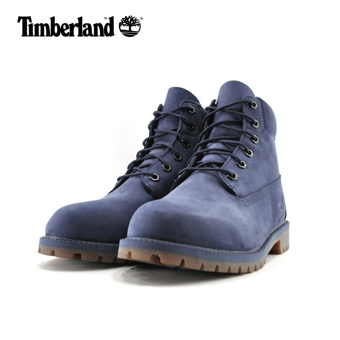 20% OFF SALEティンバーランド TimberlandPREMIUM 6IN WATERPROOF BOOT シックスインチ プレミアム ウォータープルーフ 防水 ジュニア ダークブルー(DARK BLUE NUBUCK) A1VCV ブーツ キッズ 子供 男の子 女の子 シューズ 靴 セール品