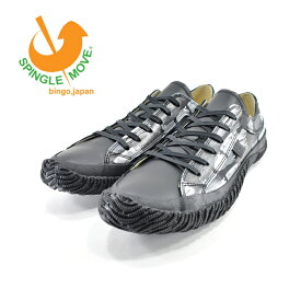 スピングルムーヴ SPINGLE MOVEムーブ ローカット ハケペイント風プリント カウレザー 牛革 本革 日本製 ハンドメイド ブラック 黒 クロ 71(BLACK(25cm〜)) SPM157 スニーカー メンズ ユニセックス シューズ 靴