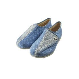 アサヒ ASAHI快歩主義 L011 介護 軽量 抗菌 防臭 日本製 マジックテープ 面ファスナー ベルクロ 3E サックス レース(ブルー/ホワイト) KHSL011 スニーカー レディース シューズ 靴