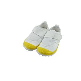 新日本教育シューズ教育パワーシューズ 14.0cm〜22.5cm うわばき 内履き 上靴 マジックテープ 面ファスナー ベルクロ 外反母趾 内反小趾予防 黄色(イエロー) POWER 上履き キッズ ジュニア 子供 男の子 女の子 シューズ 靴