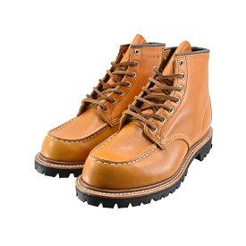 """レッドウィング RED WINGIRISH SETTER 6"""" MOC VIBRAM LUG SOLE アイリッシュセッター 6インチモック ビブラム・ラグソール 刺繍タグ 犬タグ ワイズE ゴールドラセット キャメル 82(GOLD RUSSET(在庫あり即納可)) 9879 ワークブーツ メンズ シューズ 靴"""