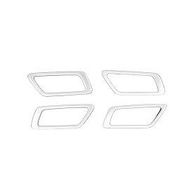 C-HR インナー ドアノブ メッキリング カバー ドアハンドル ベゼル ガーニッシュ CHR ZYX10 NGX50 サテンシルバー メッキカバー カスタム パーツ