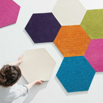 Hexagon accent タイルラグ Suminoe rolling carpet tile retardant anti-mite non-slip cutting