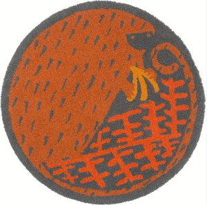 NEXT HOME バナナマニア ラグ マット/ブラウンテキスタイルデザイナー Masaru Suzuki(鈴木マサル)【サイズ:90cm×90cm 円形 】bananamania  brown rug mat防ダニ加工 日本製 床暖対応 防炎加工