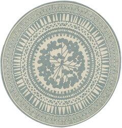 スミノエ平織りメダリオンラグマット