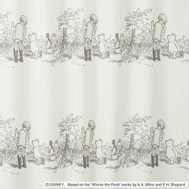 ディズニー くまのプーさん シークレット ボイル レースカーテン【サイズ:幅100cm×丈198cm】【2枚組】Disney POOH secret voile curtain[M1103]丸洗いOK!ウォッシャブル 既製カーテン【日本製】【正規品】【2枚入り特典!!送料無料】