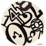 ディズニースミノエラグマットシリーズアリスクロックラグカーペット【サイズ:約90cm×90cm円形】【日本製】Disney/ALICE/ClockRUG【DRA-4050】
