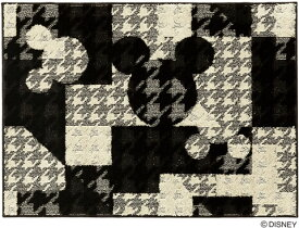 ミッキー ジオメトリーサークル ラグ カーペット【サイズ:約95cm×130cm】【日本製】Disney/MICKEY/Geometry circle RUG【DRM-1053】ディズニー スミノエ ラグマットシリーズ