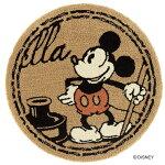 ディズニースミノエラグマットシリーズミッキースタンプラグカーペット【サイズ:約90cm×90cm円形】【日本製】Disney/MICKEY/StampRUG【DRM-4057】