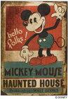 ディズニースミノエラグマットシリーズミッキーホーンテッドハウスラグカーペット【サイズ:約100cm×140cm】【日本製】Disney/mickey/hauntedhouserug【DRM1035】
