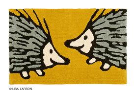 リサ・ラーソン おしゃべりイギー ラグマット【サイズ:約90cm×140cm】[QB1222-75]デザイナーズブランド LISA LARSON ハリネズミ 日本製手洗いOK 滑りにくい加工 センターラグ ルームマット