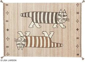 リサ・ラーソン マイキー ギャベ ラグ マット【サイズ:約140cm×200cm】インド製デザイナーズブランド 【LISA LARSON】ウール100% 手織り ギャベ織物ラグマット カーペット 絨毯