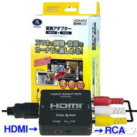 即納★送料無料!★データシステムHDMI→RCAコンポジットAV変換アダプター HDA433-D