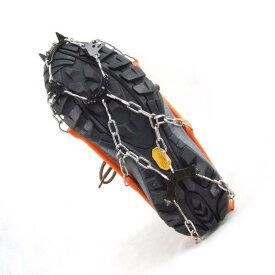 【専用ケース付】Lサイズ 簡単装着! 8本爪アイゼン 軽量アイスグリッパー スノースパイク 8個の金属製爪で路面を確実に! グリップのスタッドが地面をしっかりグリップ【雪/凍結/簡易式/アイゼン/滑り止め/スパイク】