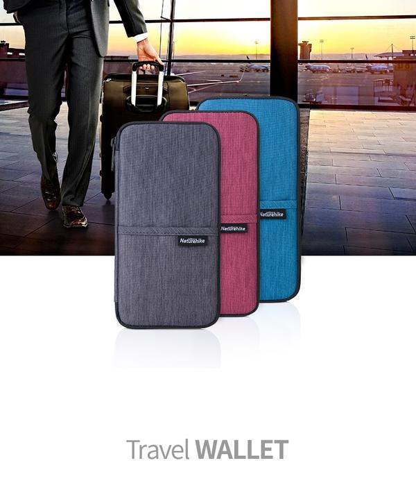 【Naturehike】軽量 ネックストラップ付 パスポートケース 22.5x12cm インナーケース【3色】パスポートカバー 海外旅行用品/財布/小銭入れ/多機能/パスポートバッグ