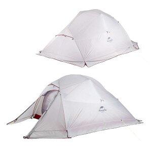 グランドシート付【NatureHike】スノースカート付 3人用テント 自立式 クラウドアップ 3 耐水圧:4000mm 超軽量 (グレー) ダブルウォールテント キャンプテント ダブルレイヤーUV40 紫外線防止 ア