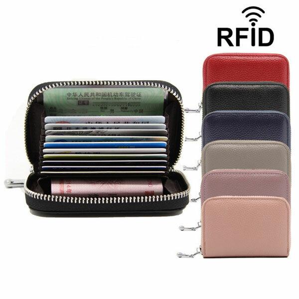(6色)本革 RFID 12ポケット スキミング防止 カード入れ カードケース じゃばら アコーディオン式 レディース レザー 財布 ポイントカード クレジットカード 名刺