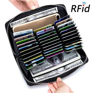 (12色)通帳ケース 本革 RFID 36ポケット スキミング防止 パスポートケース カード入れ カードケース じゃばら アコーディオン式 レディース レザー 財布 ポイントカード クレジットカード