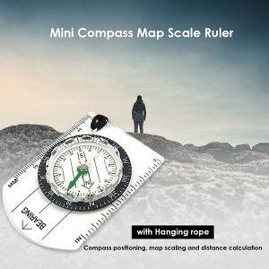 方位磁石【オイル式】手のひらサイズの軽量コンパス 多機能 方角 ものさし 定規 地図 縮尺 アウトドア ハイキング 登山 小型 コンパクト 持ち運び 簡単 ストラップ付き
