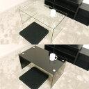 ガラステーブル 75cm幅 ローテーブル センターテーブル コーヒーテーブル カフェテーブル ガラス クリア クリアー テ…