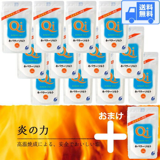 キパワーソルト 250g 【12袋+おまけ1袋=13袋入!!!】 送料無料 です!宅配で発送します♪(沖縄・離島へは発送しておりません。)代引発送も可能です♪(送料込み激安)