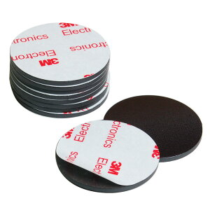 Good-L マグネットシート 丸直径4cm 厚さ2mm 両面テープ付き【10枚セット】 磁石 テープ シート 粘着剤 付き 切って使える シール 業務用 工作 ホワイトボード ネーム 掲示板