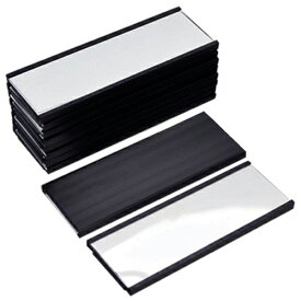 Good-L ネームプレート マグネット10 【黒・ 10個セット】 ネームプレート 名札 マグネット 磁石 ロッカー ホワイトボード マンション 倉庫 棚 整理 挟み込み