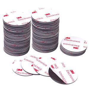 Good-L マグネットシート 丸直径4cm 両面テープ付き【100枚セット】 磁石 テープ シート 粘着剤 付き 切って使える シール 業務用 工作 ホワイトボード ネーム 掲示板