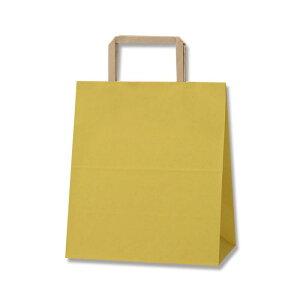 紙袋 H25チャームバッグ S2 からし 50枚【業務用 手提げ 和風 和柄】