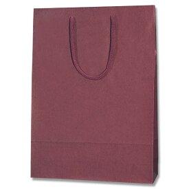 紙袋 手提げ カラーチャームバッグ  2才 エンジ  10枚【手提げ袋 手提げ紙袋 紙手提袋 ラッピングバック】