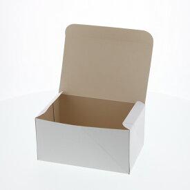 ケーキ箱 食品箱 洋生 白B  50枚 ケーキ4個用(180×118×H90mm)