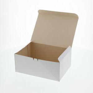 ケーキ箱 食品箱 洋生 白C  50枚 ケーキ6個用(210×150×H90mm)