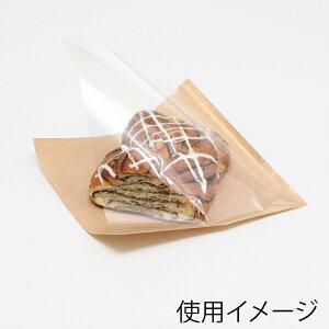 片面透明バーガー袋 18−18 未晒無地 100枚【茶 肉まん袋 フード包材 業務用 ドーナツ袋 メロンパン袋 ハンバーガー袋、カレーパン袋 パン袋】