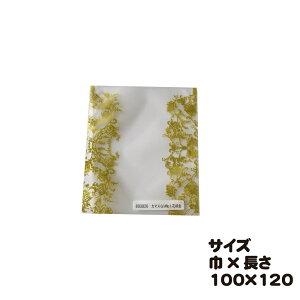 カマスGM NO.1 花柄金 100枚 巾100×長さ120mm【カマス袋(マットタイプ)】