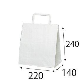 【ケース販売】ラッピーバッグ NO.10 晒無地 400枚 巾220×マチ140×高さ240mm【業務用 手提げ袋 手提げ紙袋 紙袋 手提げ マチ広 白無地】