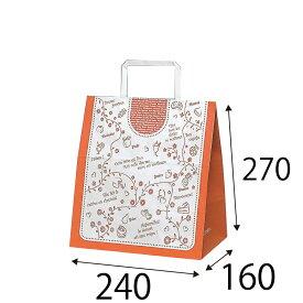 【ケース販売】ラッピーバッグ NO.11 デザート 300枚 巾240×マチ160×高さ270mm【手提げ袋 手提げ紙袋 紙袋 手提げ マチ広 洋風 洋柄】